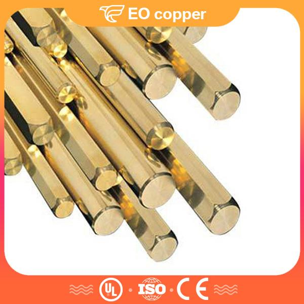 1/2 Hard Brass Hexagonal Bar