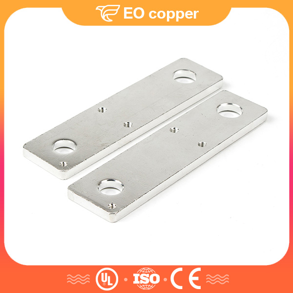 3 Oval-shaped Hole Solid Copper Earthing Bar Conductor